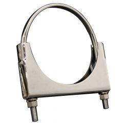 "6""D Chrome Welded Saddle Clamp Flat U-Bolt"