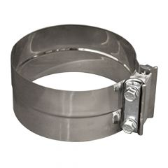 """4""""D Stainless Steel Lap Joint Clamp"""