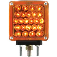 Amber/Amber Square Double Face Pearl LED Light