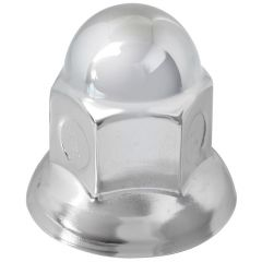 33mm Chrome Steel Acorn Nut Cover - Push On