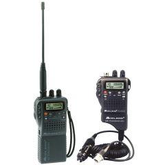 Handheld CB Radio and 12-Volt Antenna Adapter