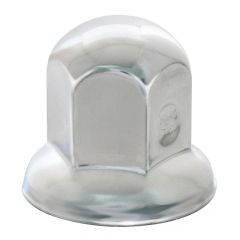 "1 1/8"" Chrome Steel Standard Nut Cover - Push On"