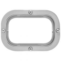 Stainless Steel Rectangle Flange Mount Rim