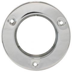 "Stainless Steel 2 1/2"" Round Flange Mount Rim"