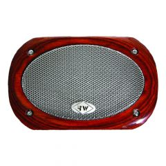 Peterbilt Speaker Cover with Rosewood Frame