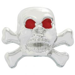 Chrome Skull Valve Caps (4 PK)