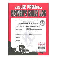 2-in-1 Driver's Daily Log Book w/DVIR (Carbonless)