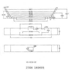 Peterbilt 357, 378 12-Inch Set Back Chrome Bumper