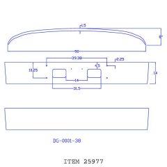 "GMC Topkick 14"" Factory Style Chrome Bumper"