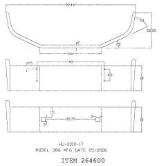"Peterbilt 386 2006-2012 18"" Chrome Bumper"