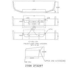 "Freightliner Cascadia 14"" Set Back Chrome Bumper"