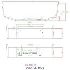 "16"" Chrome Set Back Bumper for Freightliner Columbia 2004 and older"