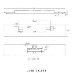 """18"""" Texas Square Chrome Bumper for Mack R-600 & R-700"""