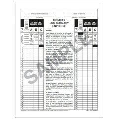 Monthly Log Summary Envelope (5 PK)