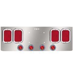 "SS Rear Center Panel 4 Rectangle & Four 2"" Lights"