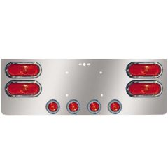 """SS Rear Center Panel w/Four Oval & Four 2"""" Lights"""