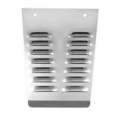 """14""""L SS Louvered Anti-Sail Plates for Rear Flaps"""