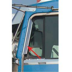 Kenworth Window Deflectors Stainless Steel