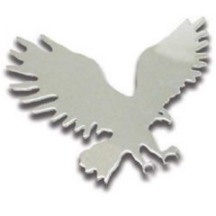 LH Chrome Small Eagle Cut Out Tape Mount