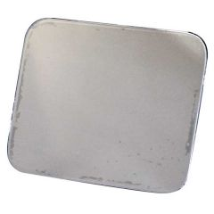 """Flat Permit Panel 4"""" x 5"""" Stainless Steel"""