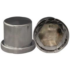 30mm Chrome Plastic Top Hat Nut Cover - Push On