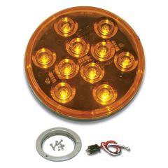 "4"" Mega 10 Amber/Amber LED Light with SS Bezel"