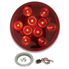 "4"" Mega 10 Red/Red LED Light with SS Bezel"