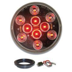 """4"""" Mega 10 RD/CLR LED Light with Grommet & Pigtail"""