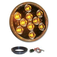 "4"" Mega 10 AM/CLR LED Light with Grommet & Pigtail"