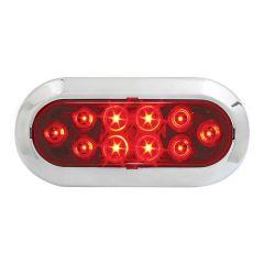 Red 10 LED Surface Mount Oval Mega Light