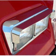Stainless Steel Dual Headlight Visors (PR)