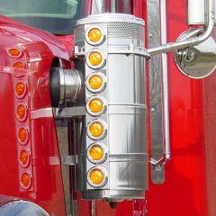 International 9900IX Front Air Cleaner LED Light Bars