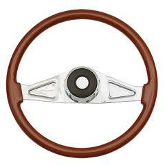 """2 Spoke Rosewood Steering Wheel 18"""""""