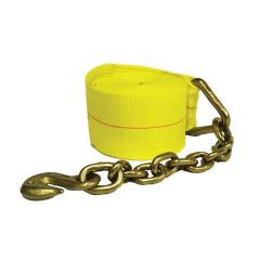 "Winch Strap with Chain and Grab 4"" x 30'"