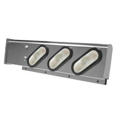 SS Two-Piece Rear Light Bars w/Oval LED