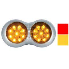 "5"" 18 LED Double Bubble Marker Light with Bezel"