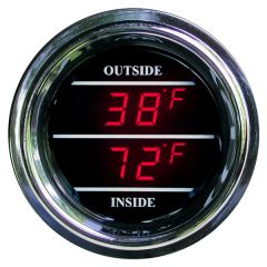 Dual Inside / Outside Air Temperature Gauge for Peterbilt, Kenworth 2006 and newer