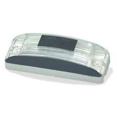 White Rectangular License Plate Lamp