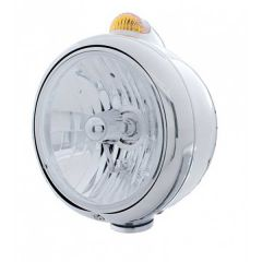Chrome Guide H4 Headlight with Dual Function Turn Signal