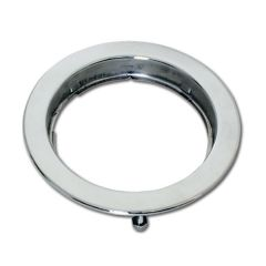 """Stainless 4"""" Round Invisible Stud Flange Mount Rim"""