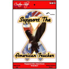 Support The American Trucker Ribbon Vinyl Decal