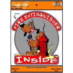 Dog Fire Extinguisher Inside Vinyl Decal