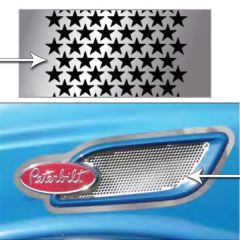 Peterbilt 386 Stainless Steel Intake Screen, Stars
