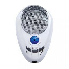 Chrome Signature CB Microphone Cover with Crystal Diamond and Visor