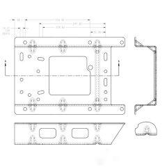 """Atlas II Seat 3"""" Floor Riser for Volvo VN"""
