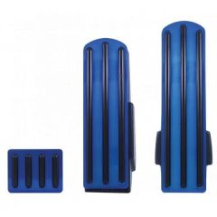 Kenworth Blue Anodized Pedal Set w/ Black Inserts