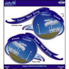 Wind Energy Ribbon Set Decals