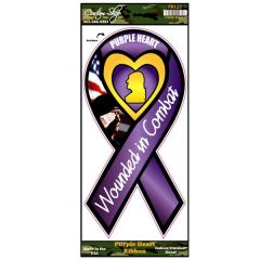Purple Heart Ribbon Decal