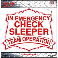 Check Sleeper Decal