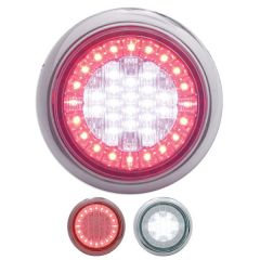 "4"" Euro White/Red LED Stop/Turn/Tail Light"